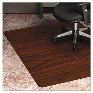 es robbins trendsetter dark cherry woodgrain chairmat home kitchen. Black Bedroom Furniture Sets. Home Design Ideas