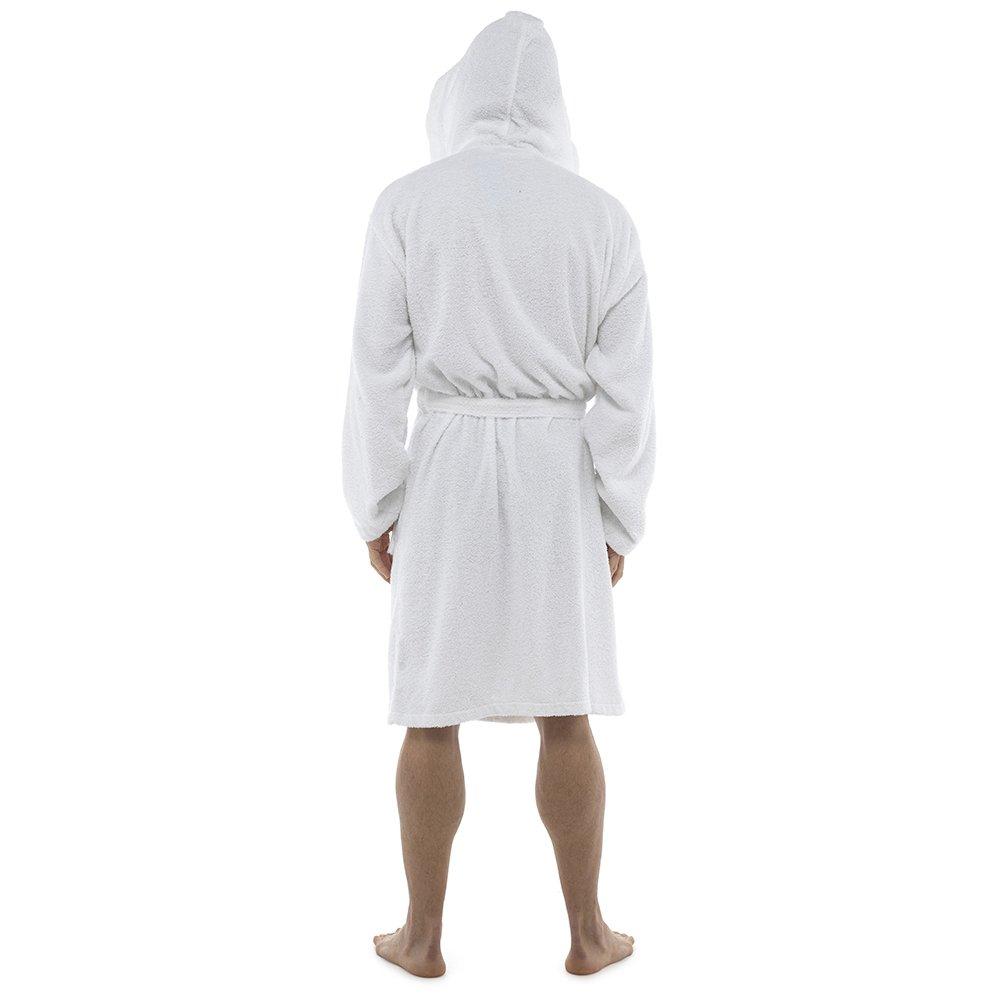 Di Lusso Da Uomo 100/% Spugna Di Cotone Accappatoio Vestaglia Avvolgente Abbigliamento da notte HT566