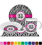 Zebra Print Dinner Set - 4 Pc (Personalized)