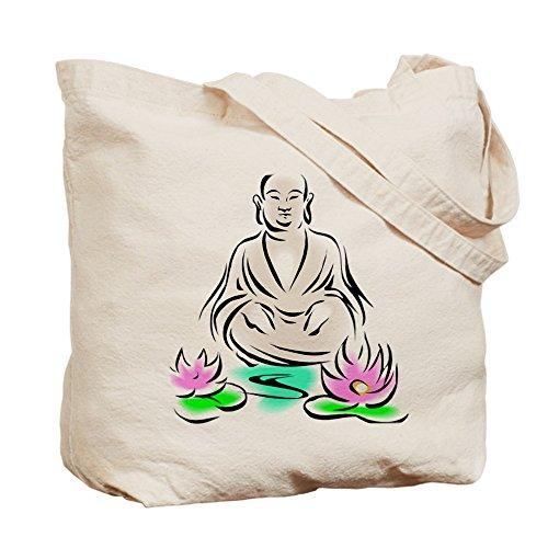 CafePress–Buda sentado en Lotus–Gamuza de bolsa de lona bolsa, bolsa de la compra