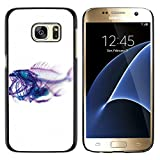 Plastic Shell Protective Case Cover || Samsung Galaxy S7 / Galaxy S7 Duos / G930 || Xray Fish Skeleton Art @XPTECH