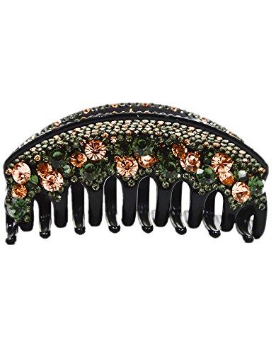 Fancyin New arrival Luxury Crystal 4.2 colorful rhinestones hair claw clip for women
