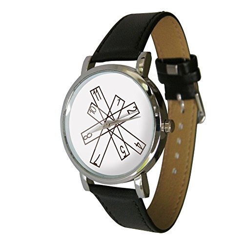 Bars Image Wristwatch - Depicts a Stylish Bars Design on The Face - Great Minimalist Watch Design