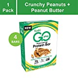 Kashi GO Protein Bars - Crunchy Peanut Butter | Vegan | Non-GMO | Box of 4