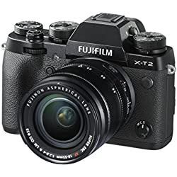 """Fujifilm X-T2 + Obiettivo Zoom XF18-55mm F2.8-4 R LM OIS Fotocamera digitale da 24 megapixel, Sensore X-Trans CMOS III APS-C, Mirino EVF 2,36MP, Schermo LCD 3"""" orientabile, Ottiche intercambiabili, Nero"""