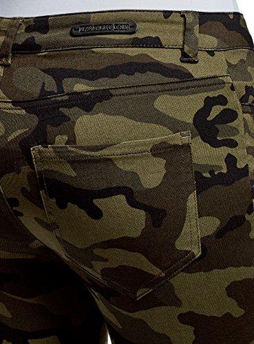 Militar Ultra de Verde Puntadas con oodji Estilo Mujer 2966o Vaqueros OXv7wCwq
