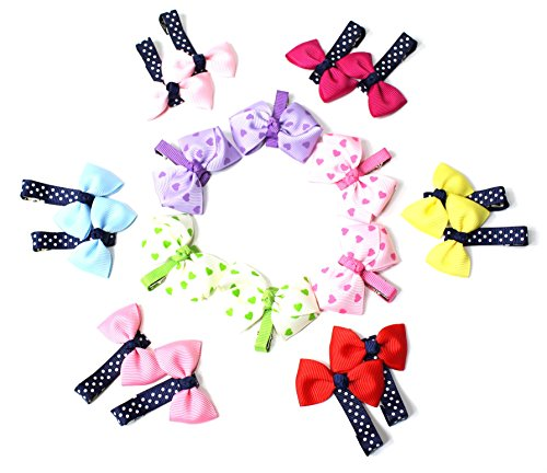 Girl's Hair Clips for Toddlers, 9 Pairs Small (#004)