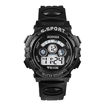 Joven Digital Relojes, niños Deportes 5 ATM Impermeable Digital con Alarma/Cronómetro/el luz, niños relojes exterior reloj de pulsera para jóvenes Joven ...