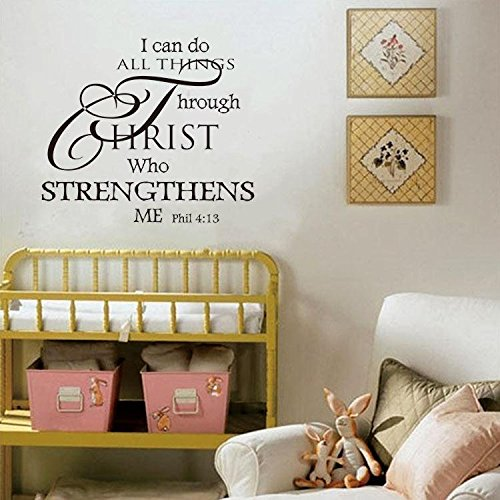 Soledi Wall Decal I Can Do All Things Through Christ Who Strengthens Me Quotes