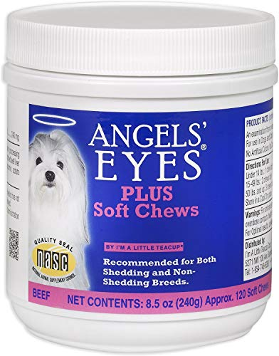 Plus Soft Chews Angels' Eyes Beef Flavored for Dogs & Cats, 120 Count