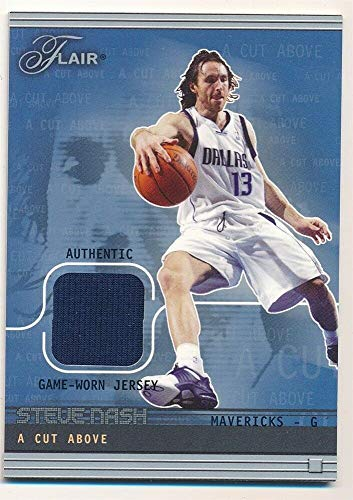 (BIGBOYD SPORTS CARDS Steve NASH 2003/04 Flair A Cut Above Mavericks RELIC Jersey SP #339/500 F5)