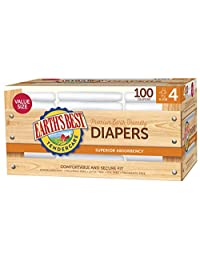 Earth's Best Chlorine-Free Diapers, Size 4, 100 Count
