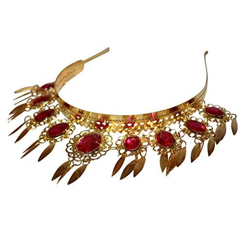 Fuchsia Leaf Crown Belly Dance Headband Headpiece Jewelry Party Accessories Halloween Costume