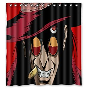 Personalized Custom Fashion Anime Unique Men Shower Curtain Bathroom Decoration Mildew Waterproof Polyester Fabric Shower Curtains 66