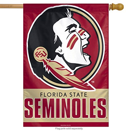 Florida State Seminoles Wall Clock (NCAA College Vault Florida State Seminoles 27-by-37 inch Vertical Flag)