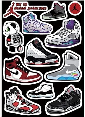 Jordan Vintage Shoes Skateboard Vinyl