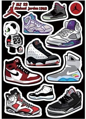 jordan shoe box stickers