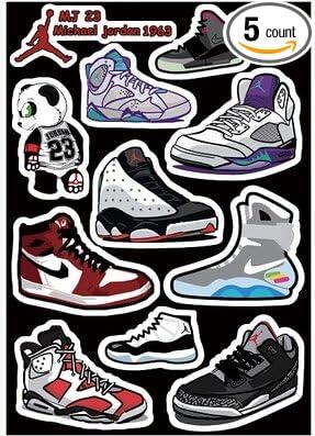 Amazoncom Jordan Vintage Shoes Skateboard Vinyl Stickers Laptop - Vinyl stickers for laptops