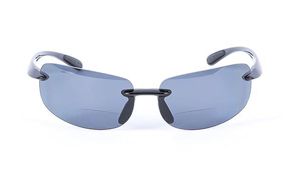 efd008b9c1dd Mass Vision Lovin Maui Polarized Bifocal Sunglasses Unisex Lightweight  Frames (Black