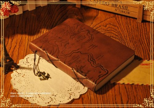 Treasure Map Leather Journal