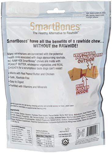 SmartBones Peanut Butter Dog Chews, Mini 24 Count, 24 Pack by SmartBones (Image #3)