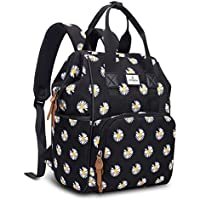 Vogshow Nappy Backpack with Changing Pad, Multifunction Mini Baby Travel Diaper Bag, Stylish Floral Maternity Changing…