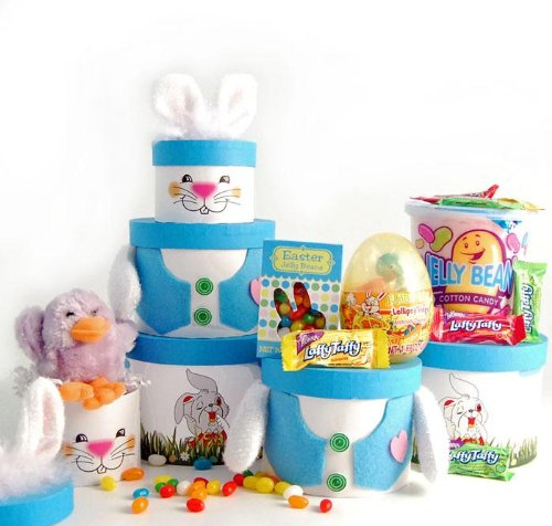 (The Gift Basket Gallery Have a Happy Easter Gift Tower for Boys and Girls)