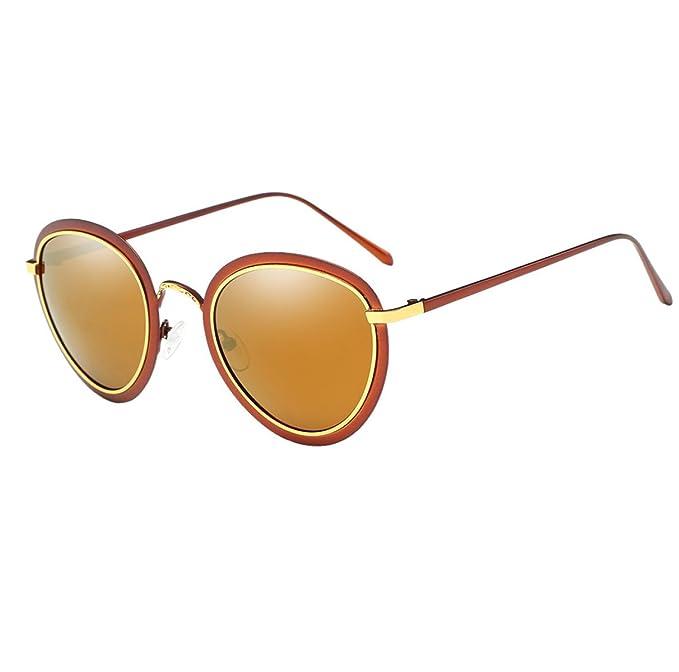 HSNZZPP Damas Cuadro Redondo Retro Luz Brillante Gafas De Sol Polarizadas Gafas De Sol De Espejo Retrovisor: Amazon.es: Ropa y accesorios