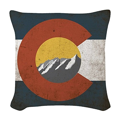 CafePress - Colorado State Mountains - Woven Throw Pillow, Decorative Accent Pillow State Throw Pillow