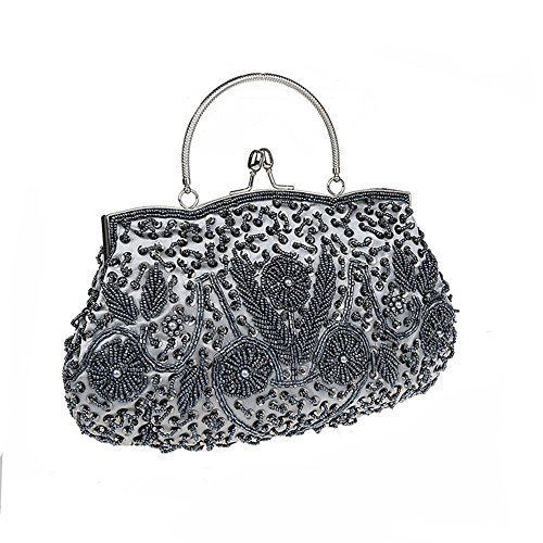 Vintage Bag Handbag Soft Colors Evening Grey Sequin 11 Clutch Beaded Seed Premium amp;Jane Harson Available Eqw18av