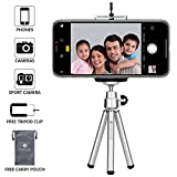 Everycom Extendable Legs 20cm Silver Tripod Stand with Universal Grip Mount for All iPhone and Android Phones