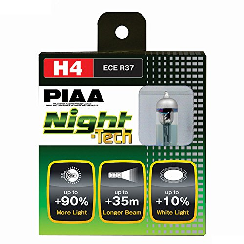 PIAA 10704 H4 (9003 or HB2) Night Tech High Performance Halogen Bulb, (Pack of 2)