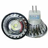 ELEDISON (4-Pack) 3 watt LED MR11 Spot Bulb Bi Pin Spot Light, 12V AC/DC, 200LM, Not Dimmable, 30 Degrees Beam Angle, Warm White 2700K