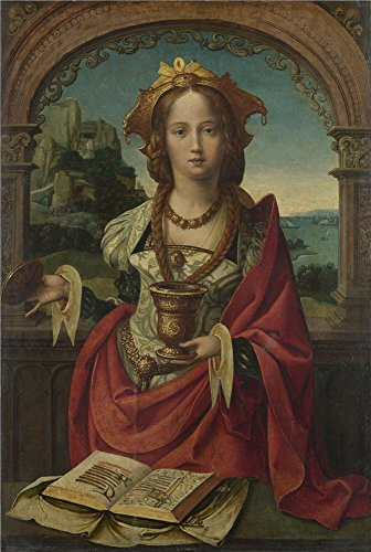 (Polyster Canvas ,the Reproductions Art Decorative Canvas Prints Of Oil Painting 'Netherlandish The Magdalen ', 24 X 36 Inch / 61 X 91 Cm Is Best For Garage Decoration And Home Artwork And Gifts)