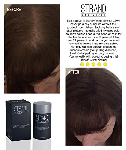 Fill In Powder Hair Fibers Hide Thinning Hair for Both Men & Women With  Auburn / Red Hair, Net Wt...