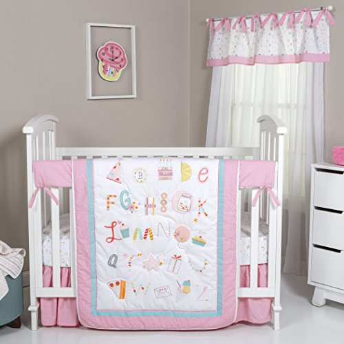 Trend Lab Alphabet Cake 4 Piece Crib Bedding Set, Multi ()