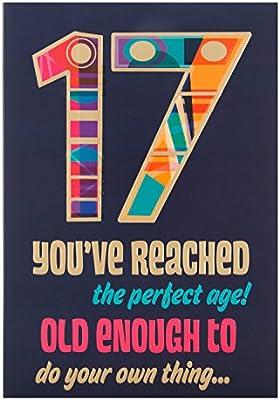 Hallmark - Tarjeta 17th Tarjeta de cumpleaños hacer su ...