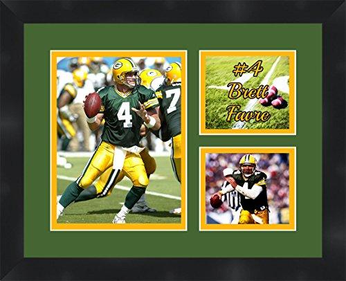 Brett Favre - Green Bay Packers, Framed 11 x 14 Matted Collage Framed Photos Ready to (Brett Favre Framed)