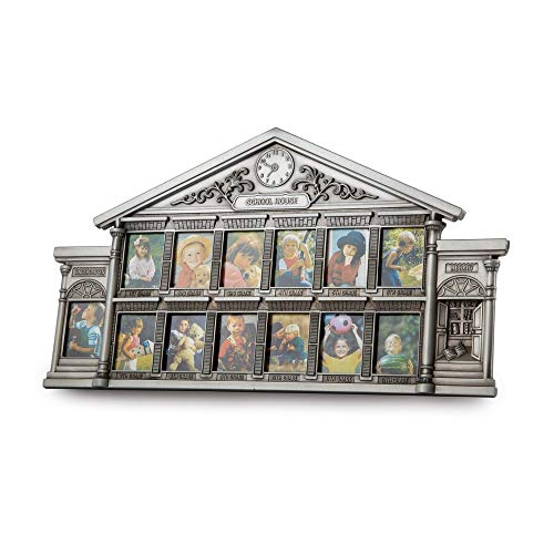Pewter Finish Baby Frame (ZenJewels Pewter Gift Baby & Children's Gifts 8 in 13.75 in Pewter Finish School House Frame)