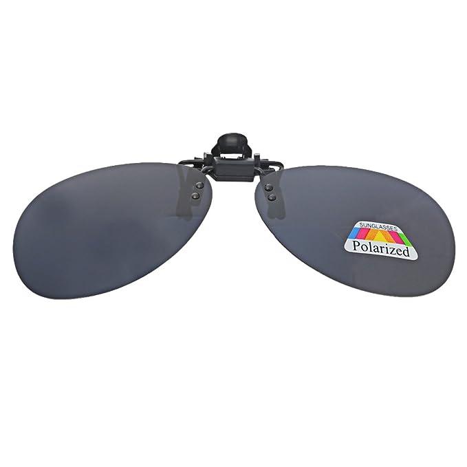 A-szcxtop, lenti da sole clip-on polarizzate, sollevabili, utilizzabili sopra gli occhiali da vista Blue Round