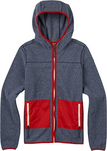 Burton Women's Anouk Full-Zip Fleece, Mood Indigo Heather, Small -