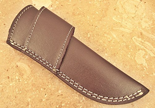 "- ColdLand | Custom Handmade Brown Color 7.50"" 100% Pure and Genuine Leather Sheath for Knives with Belt Loop LS05"