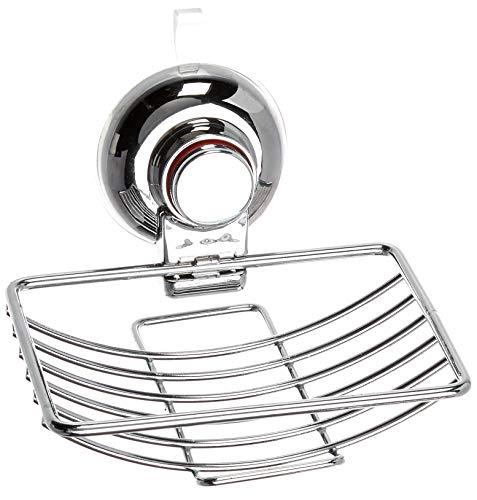 Homz Suction Soap Dish, Chrome ()