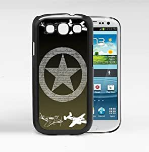 Airplanes with Star US Air Force USAF with Dark Green Background Hard Snap on Cell Phone Case Cover Samsung Galaxy S3 I9300