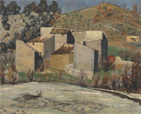 Oil Painting 'View Of Ceret, 1923 By Cedric Morris', 24 x 30 inch / 61 x 75 cm , on High Definition HD canvas prints is for Gifts And Bar, Hallway And Powder Room Decoration, huge