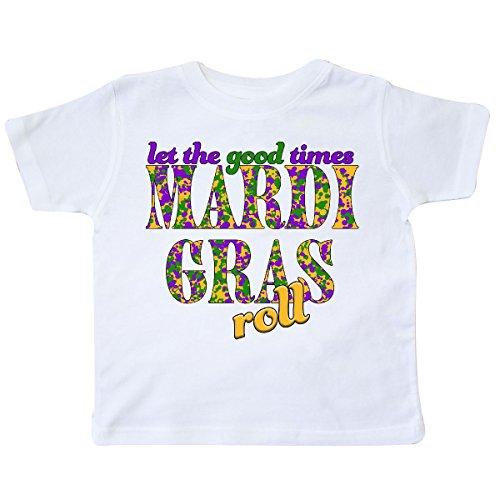 Inktastic - Mardi Gras- Let the Good Times Roll Toddler T-Shirt 2T White (Mardi Gras Floats Ideas)