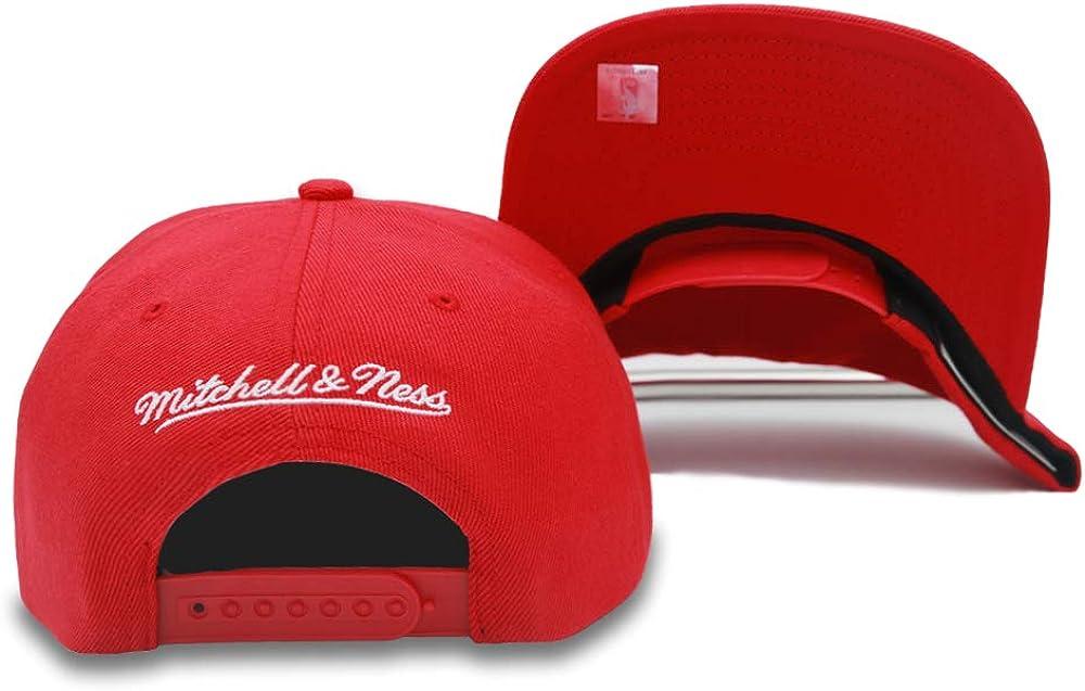 Mitchell /& Ness Chicago Bulls Adjustable Snapback /& Strap Back Hat NBA Basketball Flat /& Curve Bill Baseball Cap