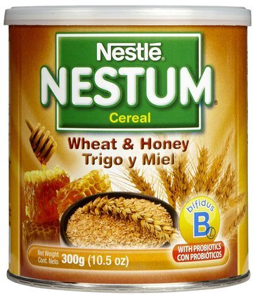 Nestum Probiotics - Infant Cereal - Wheat & Honey-10.5 oz. (Quantity of 5) ()