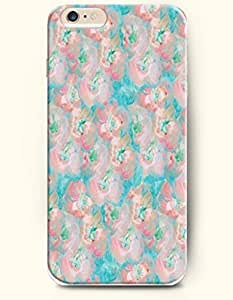 SevenArc Phone Accessory New Apple iPhone 6 Plus case 5.5' -- Light Pink Flowers in Turquoise Background