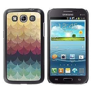 "Pulsar Snap-on Series Teléfono Carcasa Funda Case Caso para Samsung Galaxy Win I8550 , Patrón del trullo amarillo Líneas Waves"""